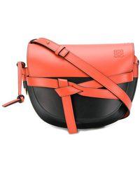 Loewe Gate Colour Block Cross Body Bag - Red