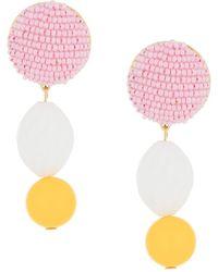 Shourouk Beaded Drop Earrings - Multicolor