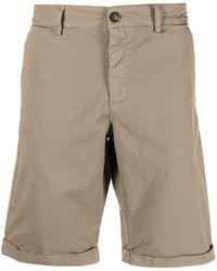 Trussardi Slim-cut Shorts - Natural