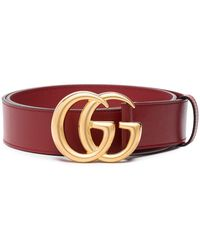 Gucci GG Buckle Belt - Red