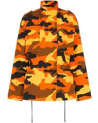 Off-White c/o Virgil Abloh Camouflage Print Parka - Orange