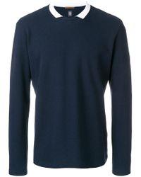 Eleventy | Collared Sweatshirt | Lyst