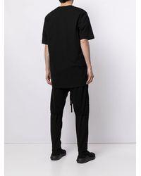 Julius コントラストプリント Tシャツ - ブラック