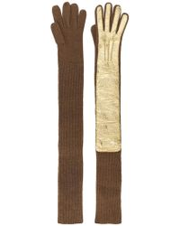 Rochas - Long Ribbed Gloves - Lyst