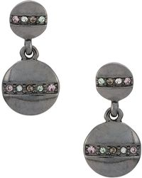 Camila Klein - Strass Embellished Drop Earrings - Lyst