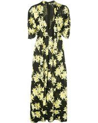 Proenza Schouler フローラル ドレス - ブラック
