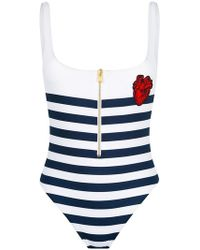 DSquared² - Striped Swimsuit - Lyst
