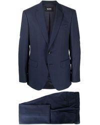 BOSS by HUGO BOSS Costume à simple boutonnage - Bleu