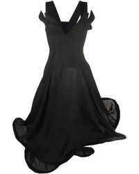 Yohji Yamamoto ノースリーブ ドレス - ブラック