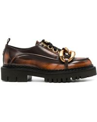 N°21 Chunky Chain Detail Oxford Shoes - Brown