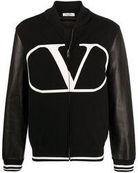 Valentino Бомбер С Логотипом Vlogo - Черный