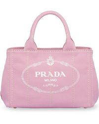 Prada ロゴ ハンドバッグ - ピンク
