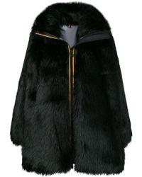 Faith Connexion - Zipped Up Fur Coat - Lyst
