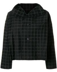 Issey Miyake - Cropped Check Jacket - Lyst