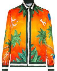 CASABLANCA Overhemd Met Print - Oranje