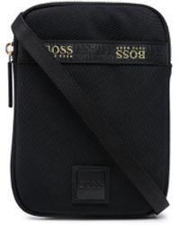 BOSS by Hugo Boss ロゴパッチ ショルダーバッグ - ブラック