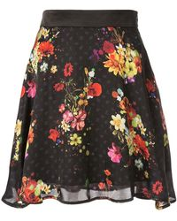 b84227bf30a7 Loveless Faux Suede Patchwork Mini Skirt in Metallic - Lyst