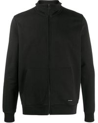 Woolrich ジップアップ スウェットシャツ - ブラック