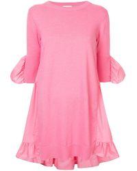 Goen.J - Knit And Poplin Mini Dress - Lyst