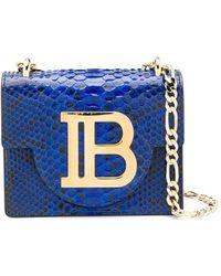 Balmain Sac à bandoulière B-Bag 21 - Bleu