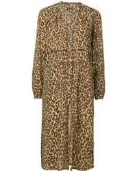 Hysteric Glamour - Leopard Print Tie Waist Gown - Lyst
