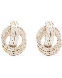 Hermès Orecchini a doppio anello anni '90 - Metallizzato