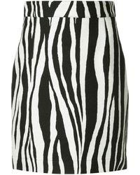 Ports 1961 Zebra Print Mini Skirt - Black