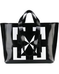 Off-White c/o Virgil Abloh Arrow Print Tote Bag - Black