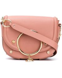 See By Chloé Mara Hardware Detail Satchel Bag - Pink