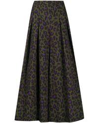 Boutique Moschino Falda con motivo de leopardo - Verde