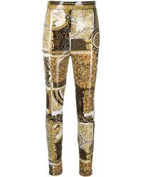 Versace Pantalones joggers con motivo Barocco - Metálico
