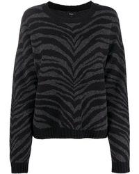 Rails タイガープリント セーター - ブラック