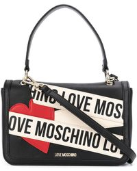 Love Moschino Draagtas Met Logopatch - Zwart