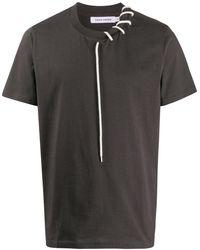 Craig Green レースアップ Tシャツ - ブラック
