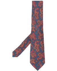 Etro Stropdas Met Paisley-print - Blauw