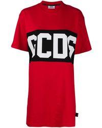 Gcds Logo Print T-shirt - Red