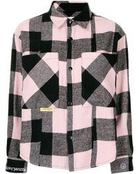 Izzue Check-pattern Long-sleeve Shirt - Pink