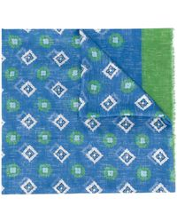 Altea プリント スカーフ - ブルー