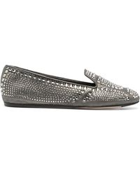 Le Silla Dixie Crystal-embellished Slipper - Gray