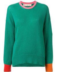 Marni - コントラストディテール セーター - Lyst