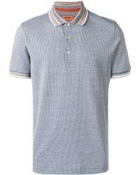 Missoni コントラストカラー ポロシャツ - グレー