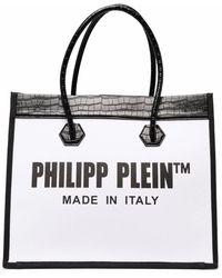 Philipp Plein Borsa tote con logo - Bianco