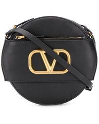 Valentino Sac à bandoulière Garavani à design rond - Noir