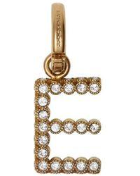 Burberry 'e' Alfabet Amulet Met Kristallen - Metallic