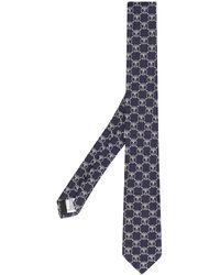 Moschino Cravate à motif monogrammé - Bleu