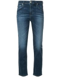 "AG Jeans - ""isabelle"" Five-pocket Cropped Straight Leg Jeans - Lyst"