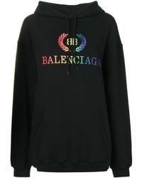 Balenciaga レインボー Bb パーカー - ブラック