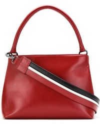 Mara Mac Leather Trapeze Bag - Red