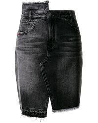PORTSPURE デニム ミニスカート - ブラック