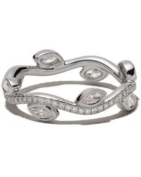 De Beers 18kt white gold Adonis Rose diamond band - Multicolore